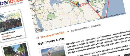 See your Travel Blogs as they appear on the site, including visitor comments!