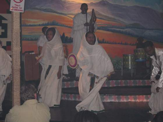 Show at Dar Abyssinia restaurant