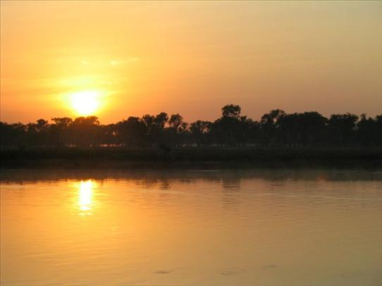 Sunrise on Yellow River