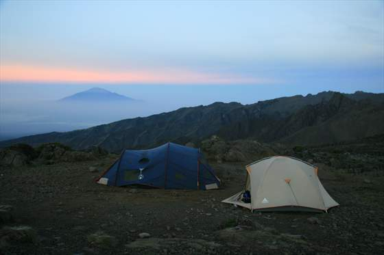 Day 3  ... Mt Meru as seen from Kilimanjaro