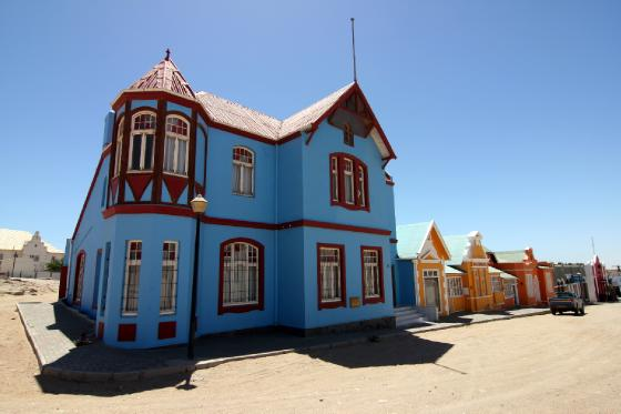 German Colonial architecture Luderitz Namibia Travel Photo