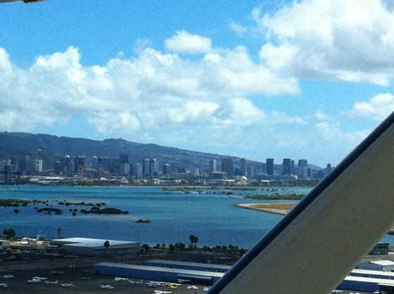 Landing in Honolulu