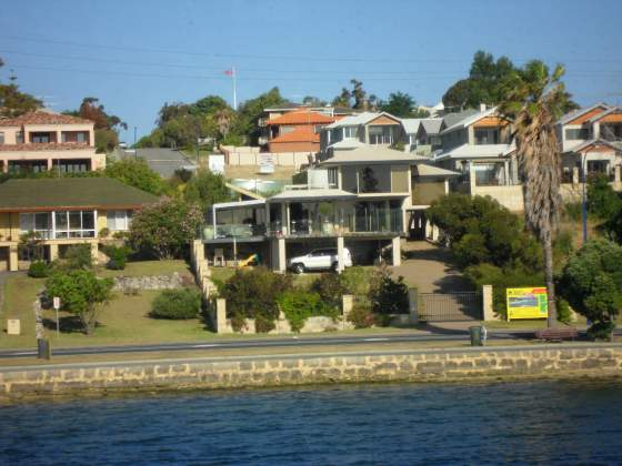 Homes along the Perth Harbour